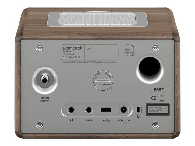 Sonoro QUBO Noyer- Radio numérique (BAB+) et FM