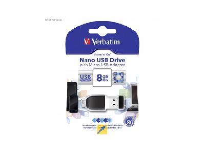 Verbatim Store 'n' Go<br>Nano USB Drive 8Go