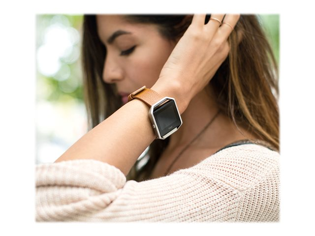 Fitbit Bracelet cuir véritable + cadran