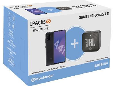 Samsung Galaxy A41 64Go Noir<br>+ JBL Go2
